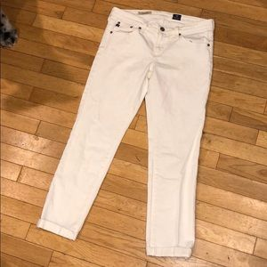 AG Adriano Goldschmied slim straight roll up jeans
